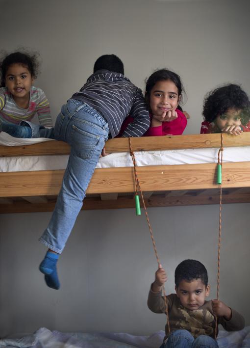 Barn i våningsäng