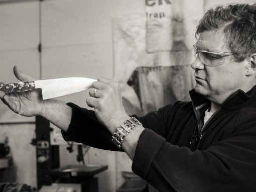 Murray Carter, 17th generation Yoshimoto Bladesmith, Portland, Oregon, USA. Photo: Christina Sjögren