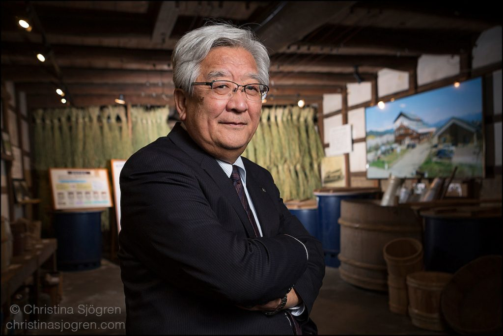 Yauemon Sato, ninth generation sake brewer and CEO of Aizu Electric Power Company.